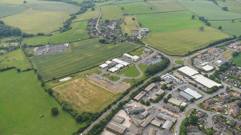 Aerial photograph of Ludlow Eco Park site