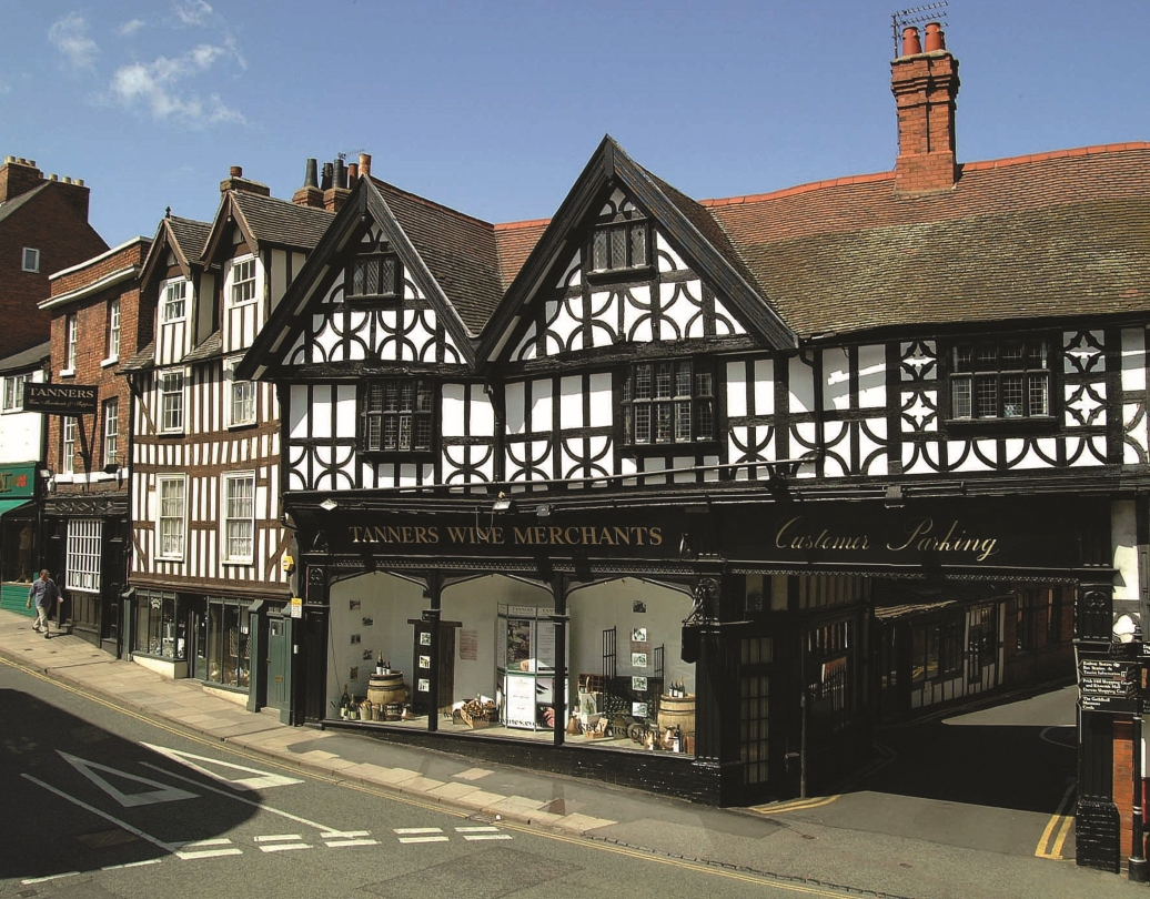 Frontage of Tanners Wine Ltd Shrewsbury